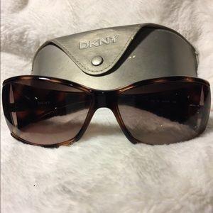 DKNY (Donna Karan) tortoise sunglasses.